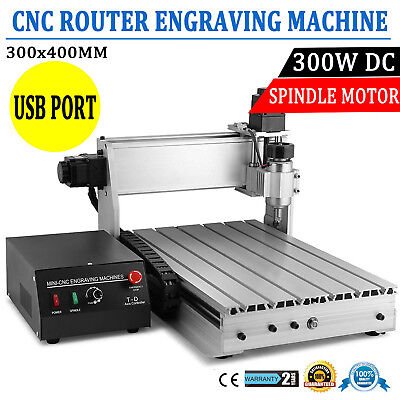 Cnc Router 3040 Diy 3-axis Engraver Engraving Milling Machine Desktopusb