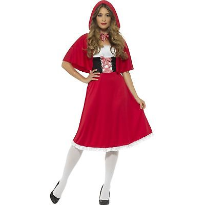 Red Riding Hood Little Fairytale Storybook Womens Ladies Fancy Dress Costume