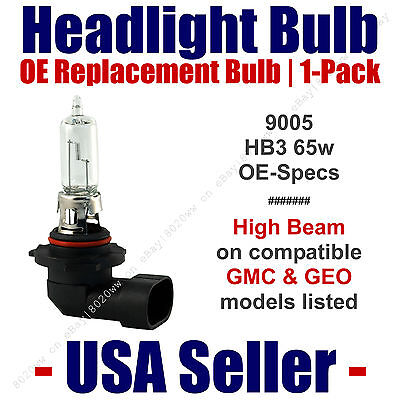 Headlight Bulb High Beam OE Replacement Fits Listed GMC/GEO Models  9005