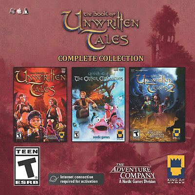 Computer Games - The Book Of Unwritten Tales Complete Collection PC Games Windows 10 8 7 Computer
