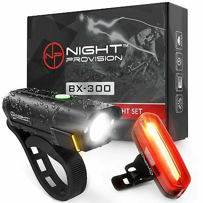 BX300 USB Rechargeable LED Bike Light Set Front and Back Cycling Safety Ligh