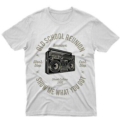 Fm10 Camiseta Boombox Estéreo Hip Hop Roca Sentencia 1990 Idea de Regalo Música