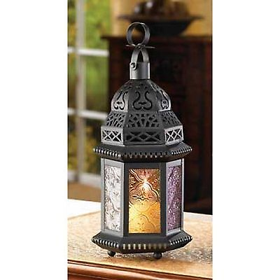 10 MAGIC RAINBOW Black Candle LANTERN WEDDING CENTERPIECES on Rummage