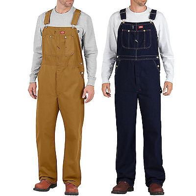 Dickies Bib Overall Herren-Latzhose Hose Duck Indigo Braun Blau Jeans ()