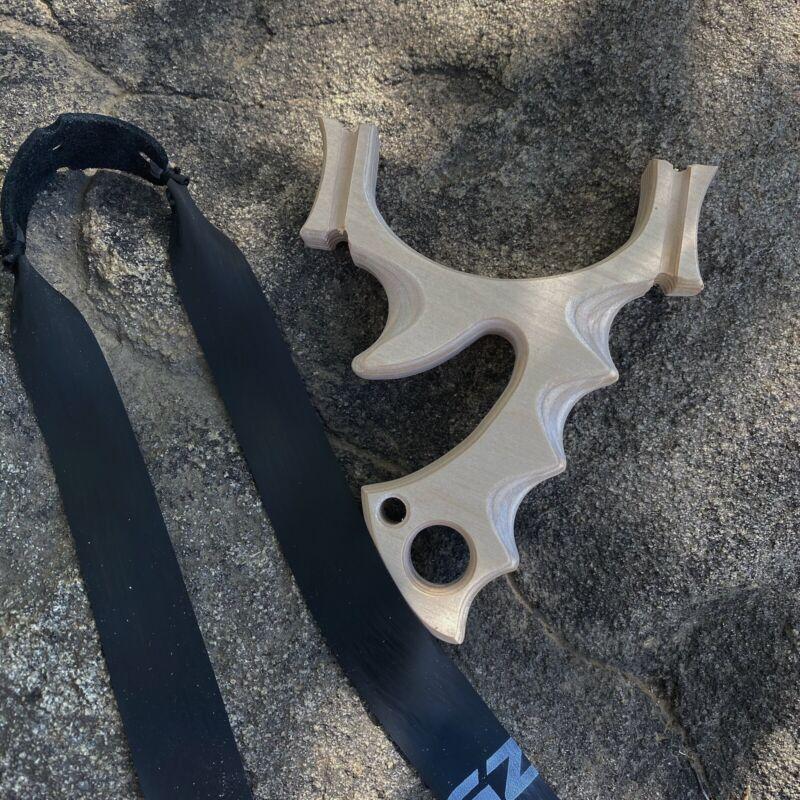 """ Hellcat "" TTF Baltic Birch Hunting Slingshot. Catapult. Handmade."