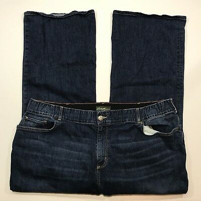 Womens Eddie Bauer Boot Cut Stretch Blue Jeans, Size 22W, Inseam -