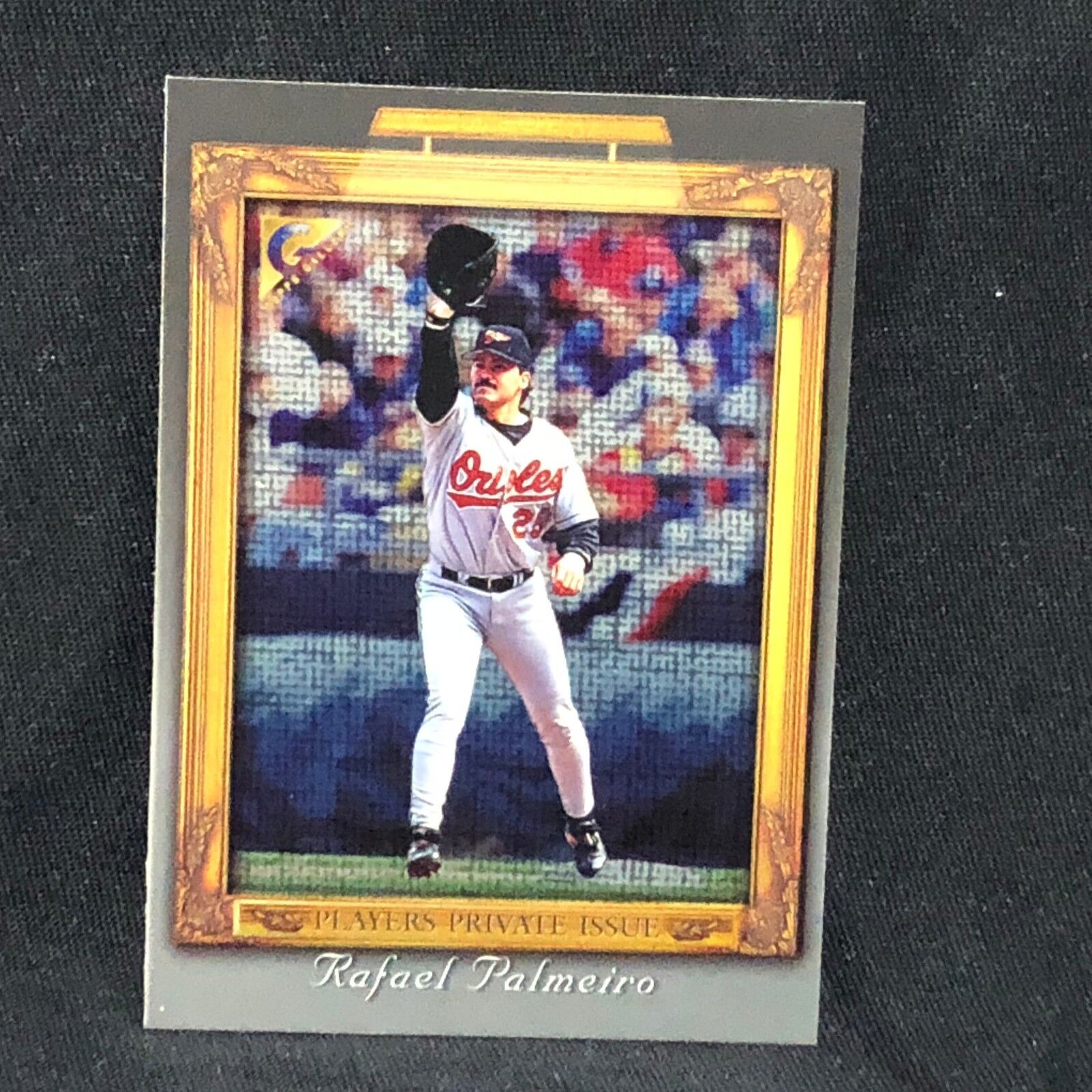 RAFAEL PALMEIRO ORIOLES 1998 TOPPS GALLERY #133 PLAYERS PRIVATE ISSUE #d 195/250