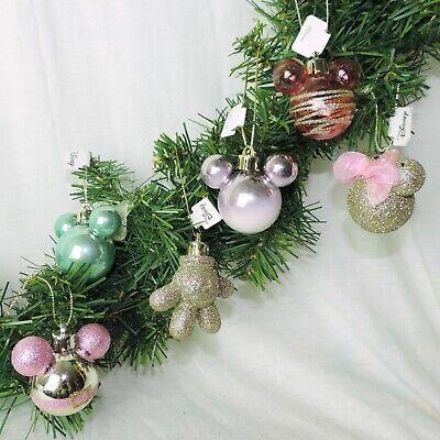 DISNEY Weihnachts Kugel 6tlg SET * MICKEY Christbaum - Rosa Disney Figuren