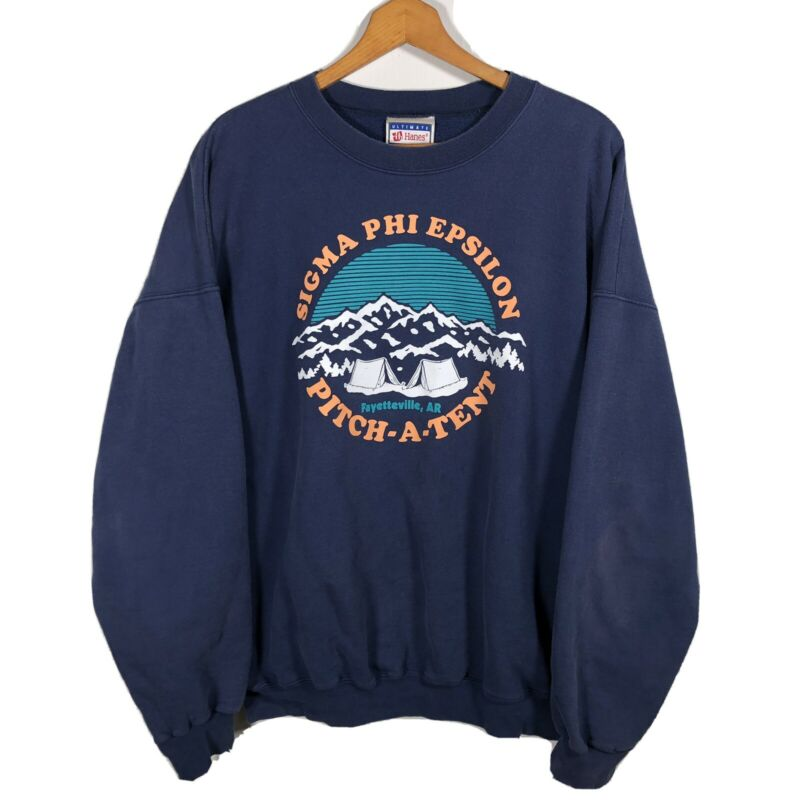 VTG 90s SIGMA PHI EPSILON Arkansas Razorbacks Crewneck Sweater Sweatshirt XL