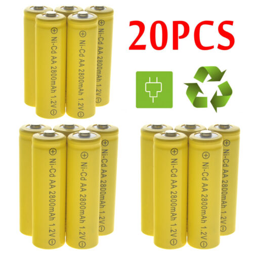 Lot AA Rechargeable Battery NiCd 2800mAh 1.2v Garden Solar N