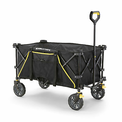 Gorilla Carts 7 Cubic Feet Foldable Utility Wagon with Oversized Bed (Open Box)