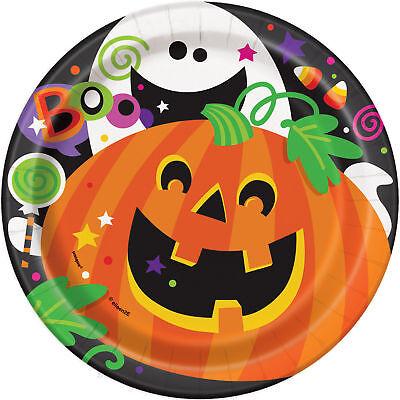 Calabaza Halloween & Fantasma Platos de Papel para Fiesta más Pequeño Tamaño - Calabaza Para Halloween