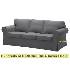 Ikea Rp Three 3 Seat Sofa Slipcover Cover Nordvalla Dark Gray New Sealed