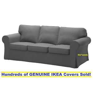 Merveilleux Ikea EKTORP Three (3) Seat Sofa Slipcover Cover NORDVALLA DARK GRAY New!  Sealed