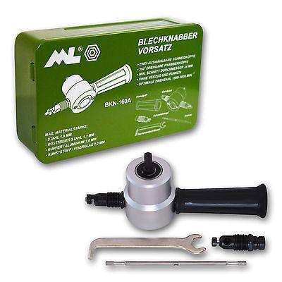 Blechknabber Vorsatz für Bohrmaschinen und Akkuschrauber  nibbler BKN-160A