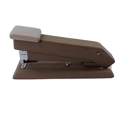 Vintage Bostitch Heavy Duty Desktop Stapler Mid-century B5 Brown Textured Mint
