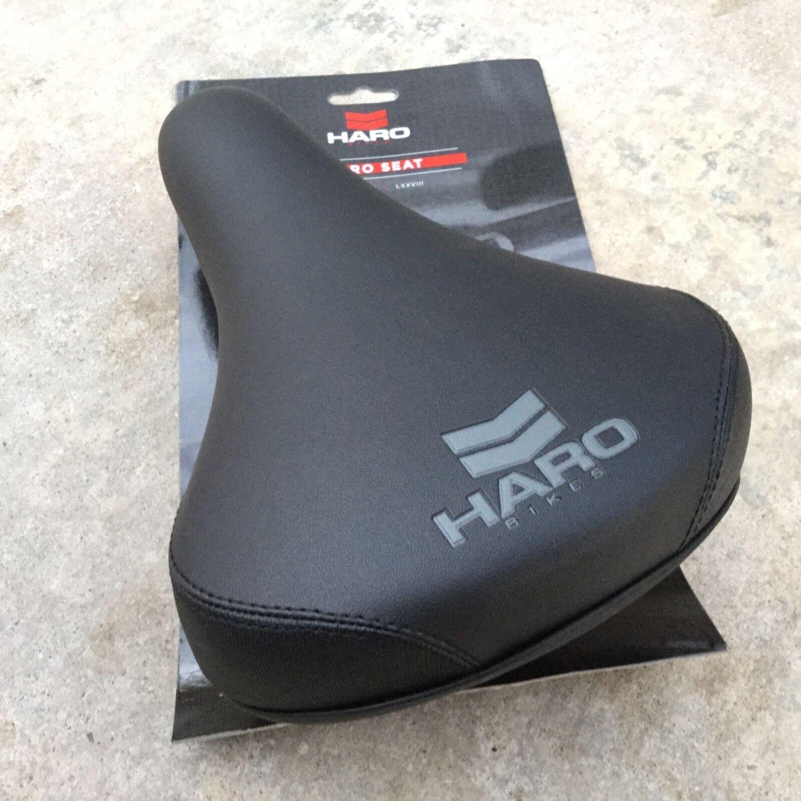 HARO CHEVRON SEAT BLACK RAILS WITH SEAT GUTS BMX BIKE BICYCL