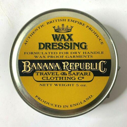 Banana Republic Wax Dressing 5 oz Tin Travel & Safari Clothing British Empire