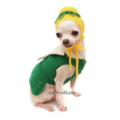 Tinkerbell Crochet Dog Costume, Tinkerbell Dog Hat, Dog Wig F121 by Myknitt