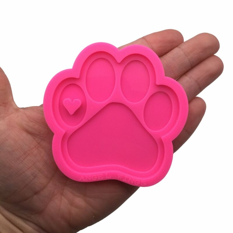 Dog Paw Shiny Silicone Mold for Epoxy Resin Crafts