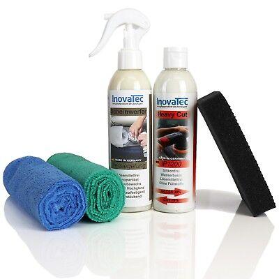 Scheinwerfer Aufbereitungsset Politur Reparatur Headlight Restore Kit InovaTec