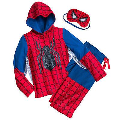 Masquerade Costume Store (Disney Store Spider Man Deluxe Costume Sleep Set w/ Mask Boys Pajamas Size 2)