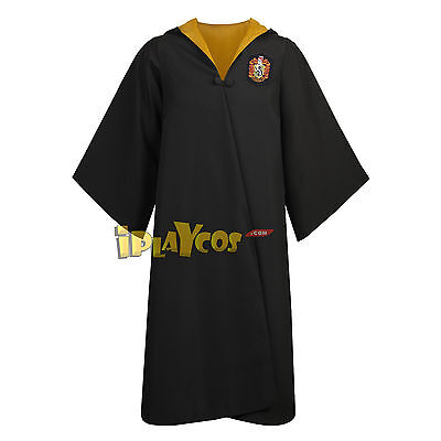 Authentic Replica Adult Young Hufflepuff House School Uniform Cloak Robe](Authentic Harry Potter Robes)