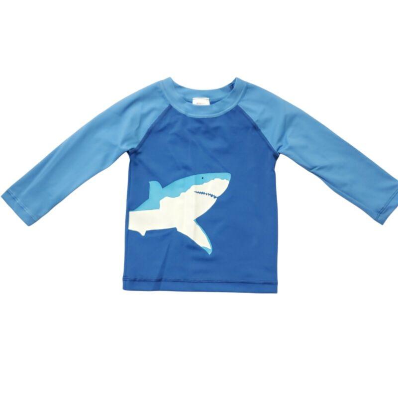 Hanna Andersson Boys Sz 2T Sunblock Rashgaurd Longsleeve Blue Shark