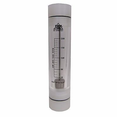 Prm 20-200 Scfm Rotameter Viton Seals 2 Fnpt Connect Airgas Flow Meter
