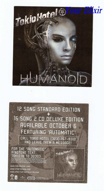 TOKIO HOTEL Humanoid Face Robot Board Amp Case Sticker