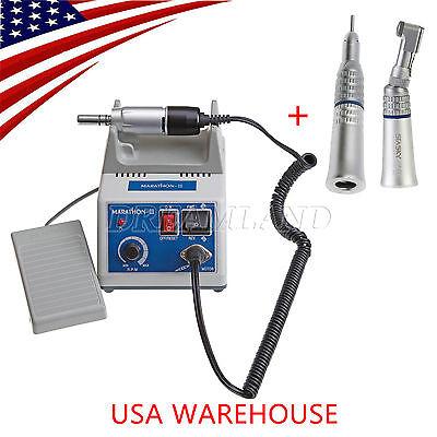 Dental Lab Marathon N3 Electric Micro Motor W Contra Angle Straight Handpiece