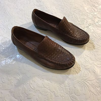 Cole Hann  shoes women Sz 8 Slip On Brown Leather Loafers