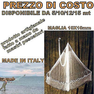 Rete Rezzaglio Iacco Sparviero Rete da Pesca Mare Muggine Cefalo alici PL1319