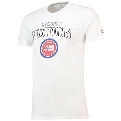 G42 Mens L Detroit Pistons New Era Team Logo T-Shirt