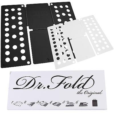 Dr.Fold 2er Set Faltbrett Black&White Wäschefalter Wäschefaltbrett XL/M