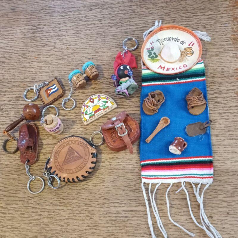 Vintage Souvenir 10 pcs. lot Cuba Nicaragua Mexico leather