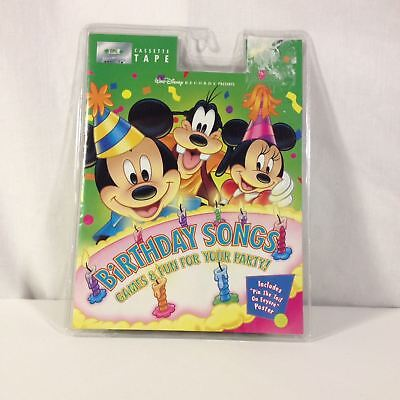 VTG Walt Disney Mickey Mouse Birthday Songs, Games, Eeyore Poster Cassette Kids - Mickey Mouse Birthday Games