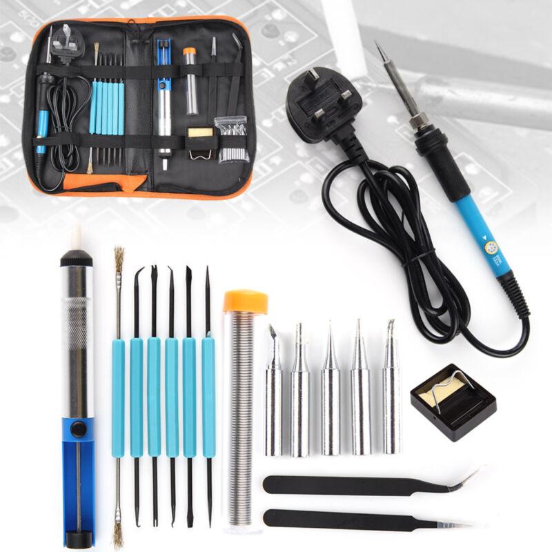 Soldering Iron Kit Electronics Welding Irons Tool Set Adjustable Temperature 60W