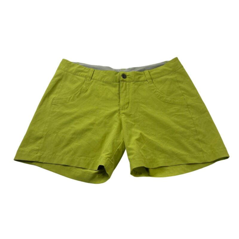 Patagonia Womens Size 8 Bright Green Shorts Hiking Running Pockets Polyester
