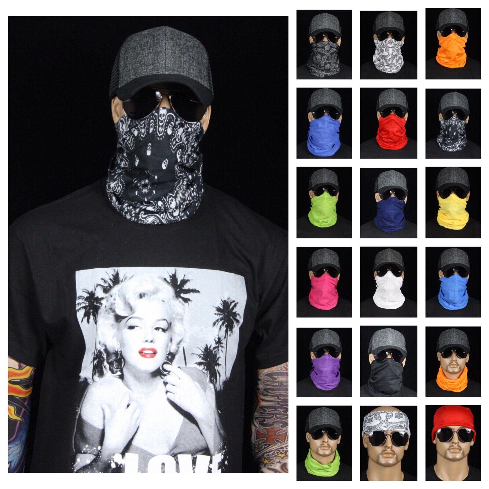 Men Women Paisley Tube Bandana Face Mask HeadWear Beanie Nec