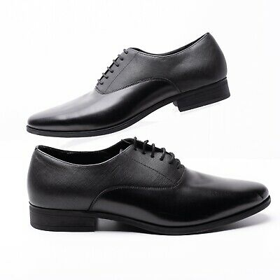 Zara Mens Oxford Dress Classic Shoes Sz 8 Eu 41 Black Lace Up 2404/002 NWT