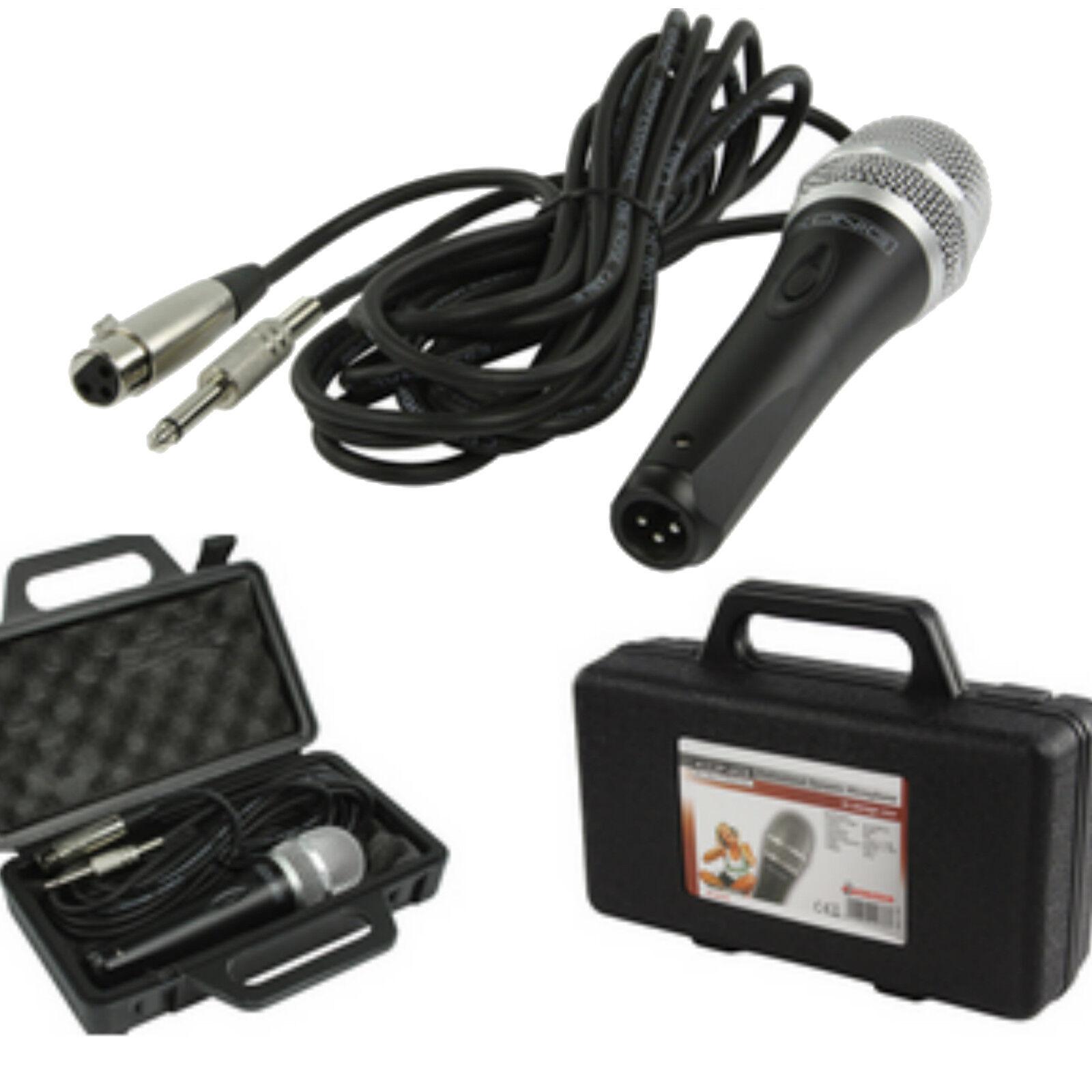 Profi Studio Dynamisches Mikrofon Microfon + Koffer + 5m XLR 6,35mm Kabel Bühne