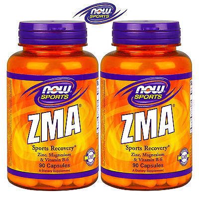 NOW SPORTS ZMA 90/180 Caps. Pro Testosterne Recovery Booster Libido Potency Gain