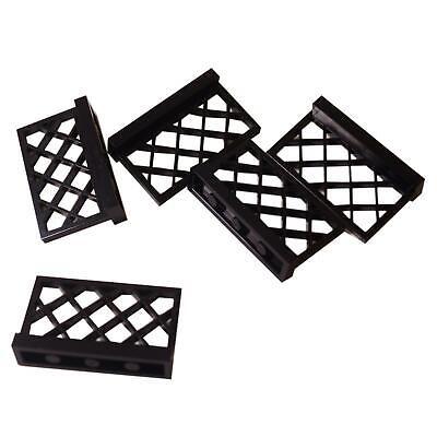 5 NEW LEGO Fence 1 x 4 x 2 Black