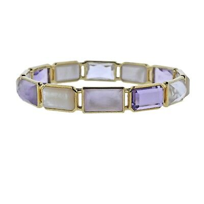 Gold Rock Candy (New Ippolita Rock Candy Gelato Lucia 12 Stone 18k Gold Bracelet)