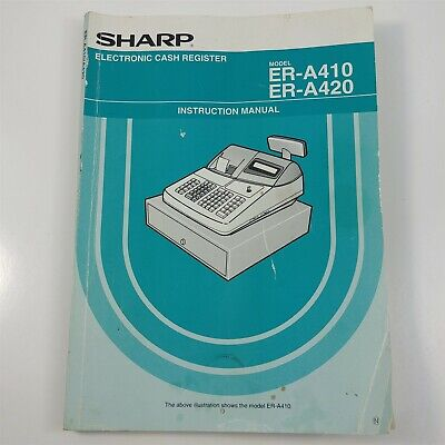 Sharp Cash Register Er-a420 Replacement Operator Instruction Manual - Used