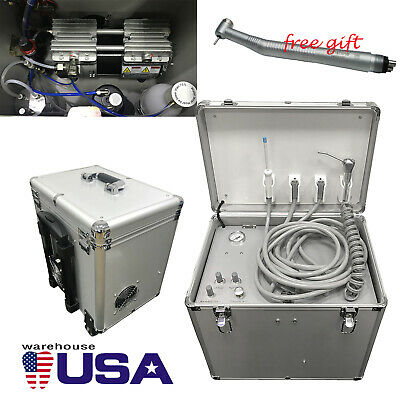 Dental Portable Delivery Unit Mobile Case Suction Compressor Turbine System Gift