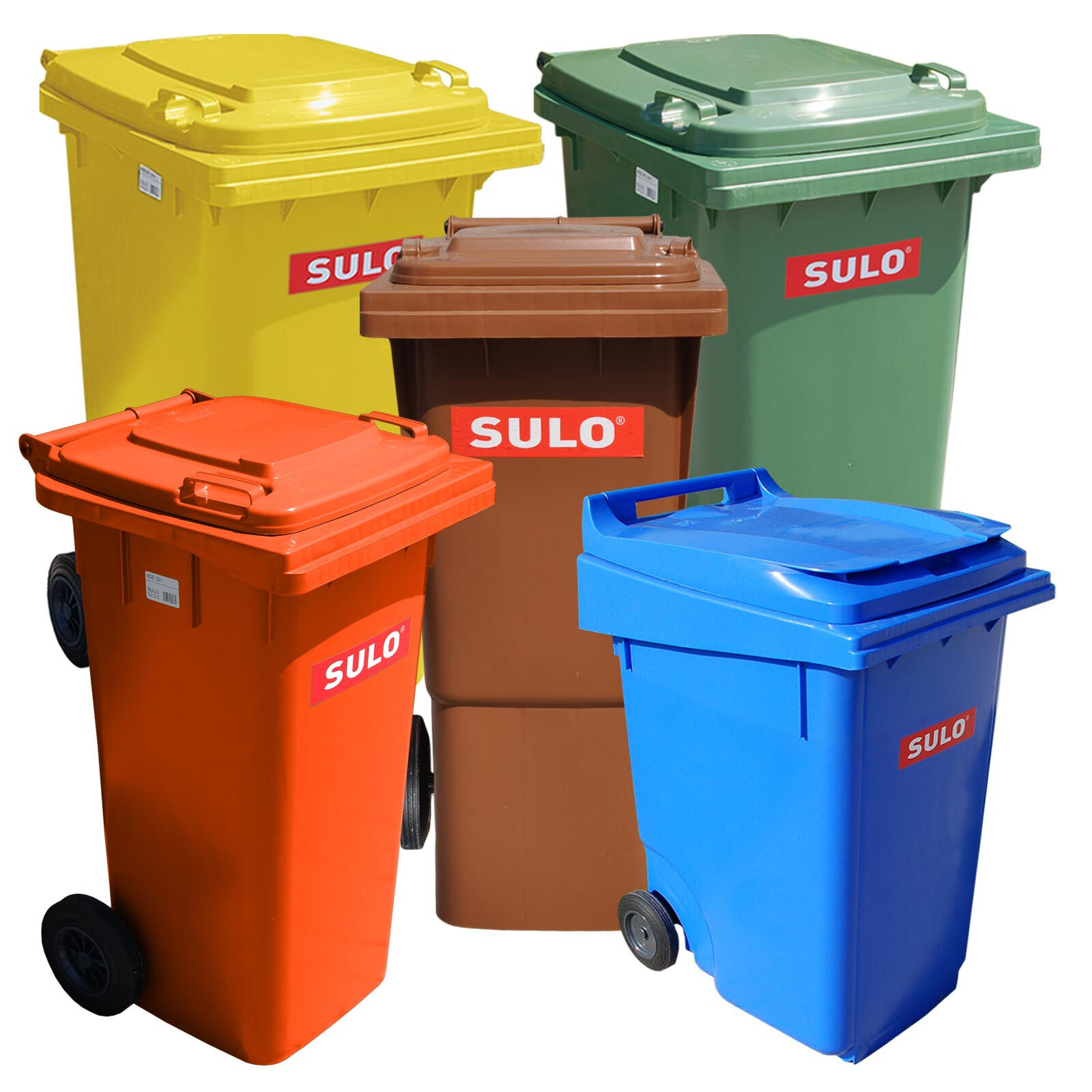 SULO Abfalltonne Müllbehälter Mülltonne 60-360 Liter NEU Made in Germany