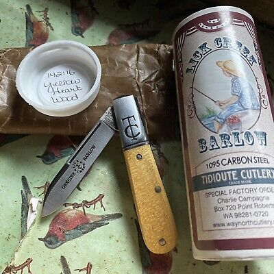 Great Eastern Cutlery TC 14 Barlow 142116 Yellow Heart Wood 1:57 Pieces