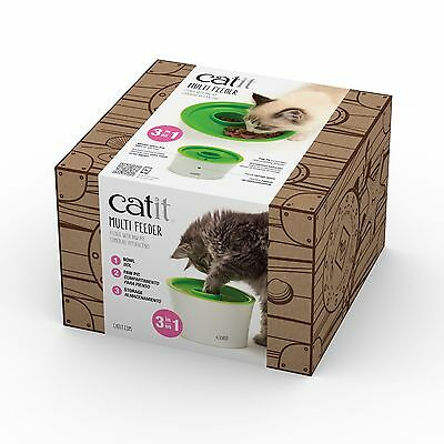 Catit Food Dish - Catit Senses 2.0 Multi Feeder Kitty Cat Kitten Weight Control Food Dish Green